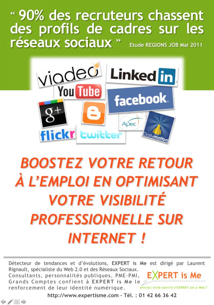 Formation chercheur demandeur d'emploi chômeur réseaux sociaux
