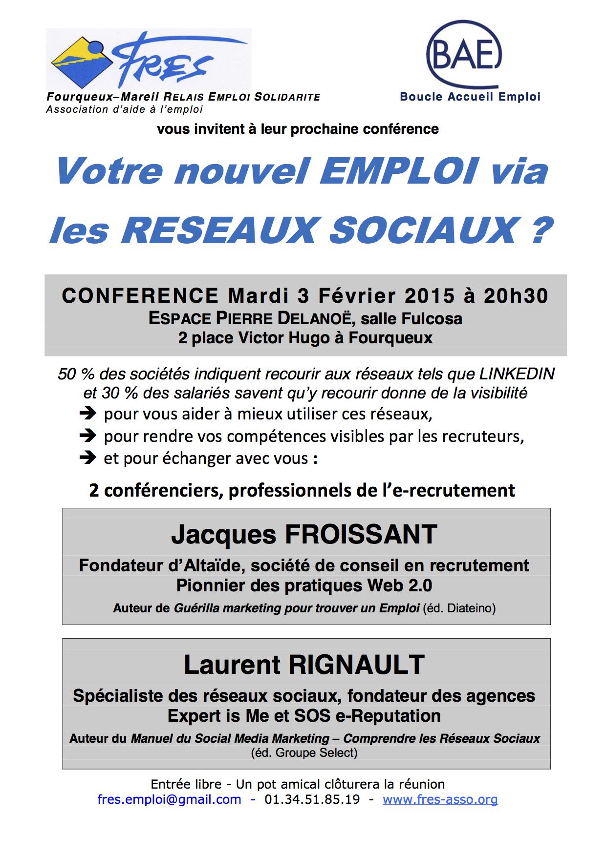 Retrouvez Laurent Rignault, CEO et fondateur d'EXPERT is Me, à la conférence FRES sur les Réseaux sociaux