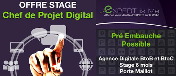 Stage Chef de Projet Digital