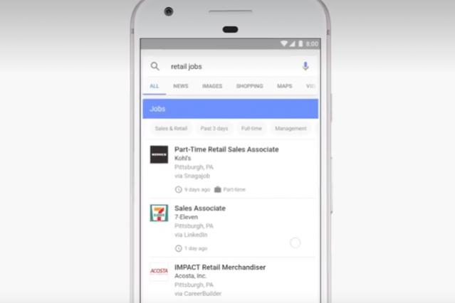 Google for jobs Moteur de recherche emploi