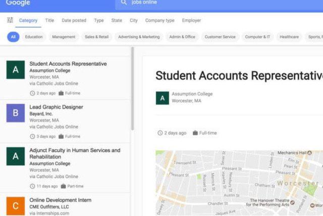Google for Jobs- nouvel outil pour la recherche d'emploi